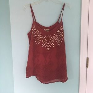 Tank top with bronze embellishments